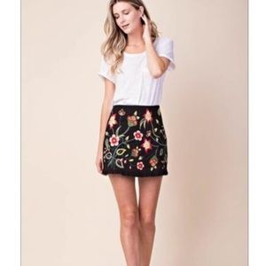 kori america embroidered skirt